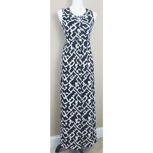 French Connection Black And White Maxi Dress 4